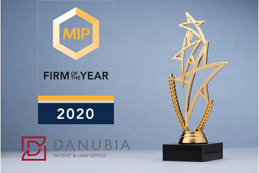 Idén is a Danubia lett Az év magyar irodája a Managing IP 2020-as díjátadóján