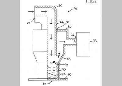 Berendezés és mérési elrendezés szálló talajanyag csapdázására