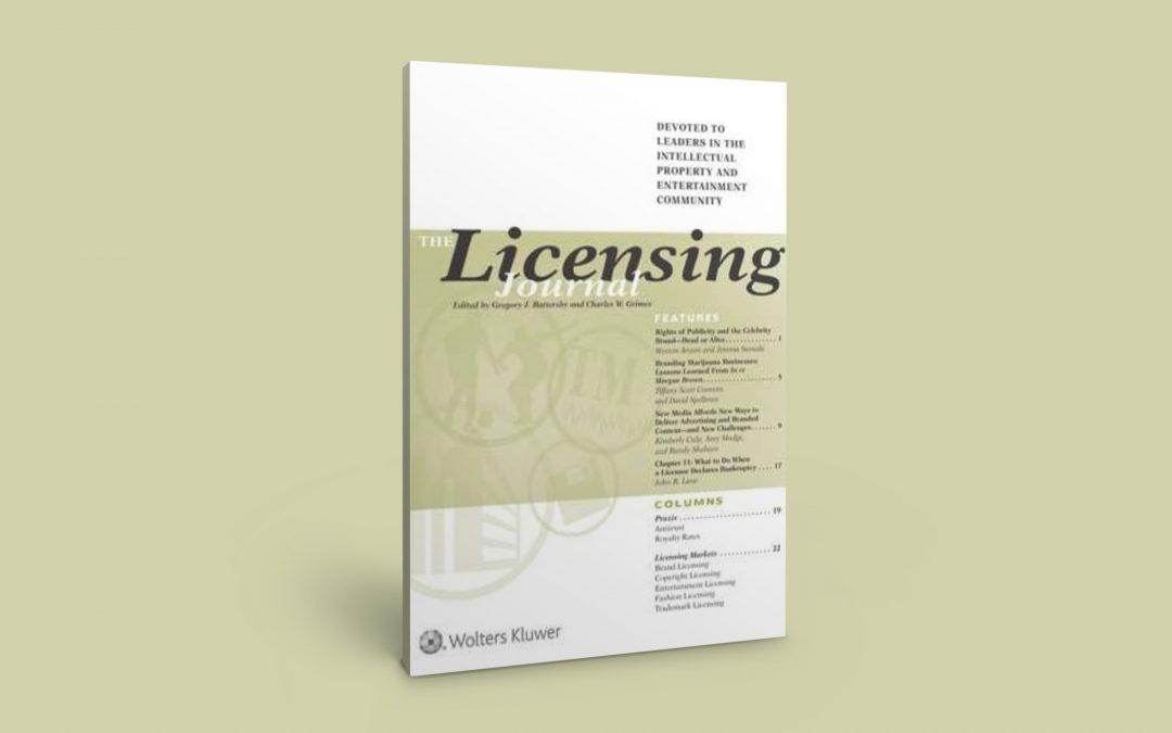 Kollégánk cikkét publikálta a Licensing Journal