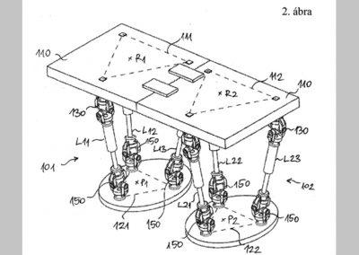 Léptető szerkezet humanoid robothoz