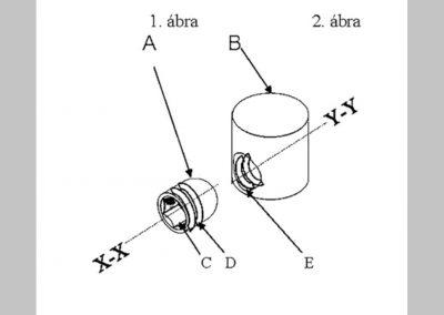 Mintavételező szerkezet trepán fúróhoz