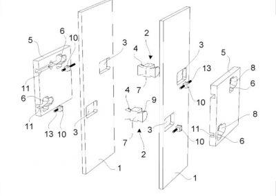 Eljárás elsősorban moduláris könnyűszerkezetes épületelemek egymáshoz rögzítésére, valamint kötőelem rendszer az eljárás megvalósítására