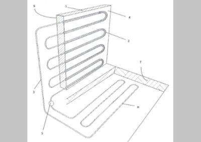 Berendezés épületek külső határoló szerkezeteinek aktív hőszigetelésére