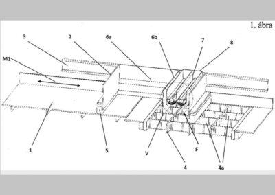 Berendezés és eljárás mintázott járófelületű térburkoló elem előállítására